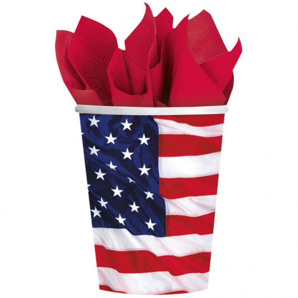 Party Becher Amerika Amscan Die Flagge