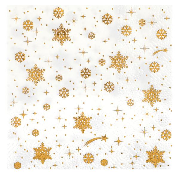 """Motiv Serviette """"Die goldene Winterstadt"""" 25 x 25 cm"""