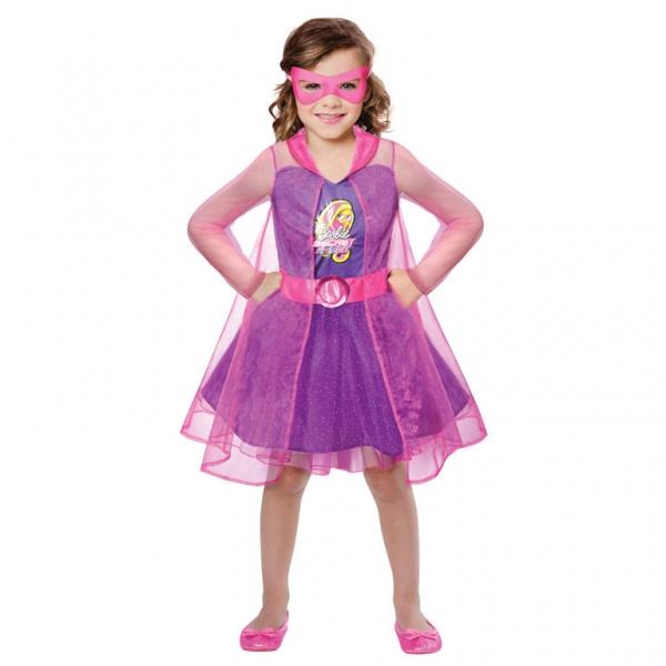 """Mädchen Kostüm """"Die Barbie Superheldin"""" Gr.: 98 - 116 / 3 - 5 Jahre"""
