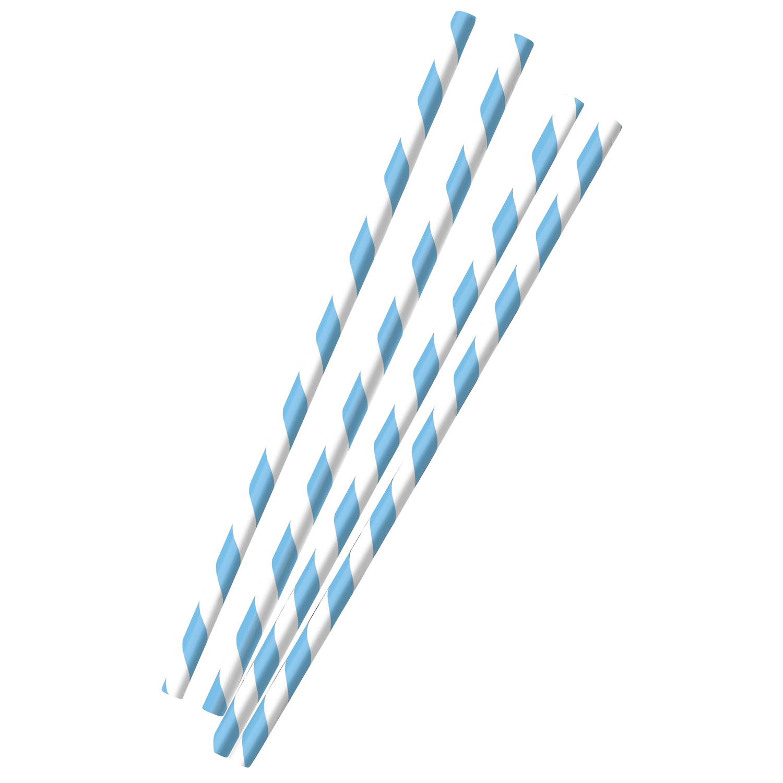 12 blau weiße Party Strohhalme Trinkhalme Oktoberfest aus Papier
