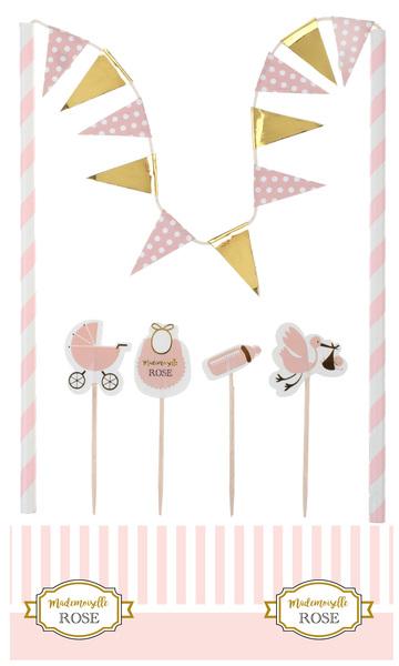 """Kuchen Dekoration """"Baby Party Mädchen"""""""