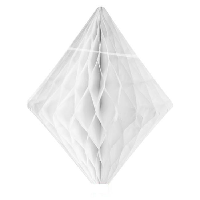 Wabenball Diamant weiß 30 cm