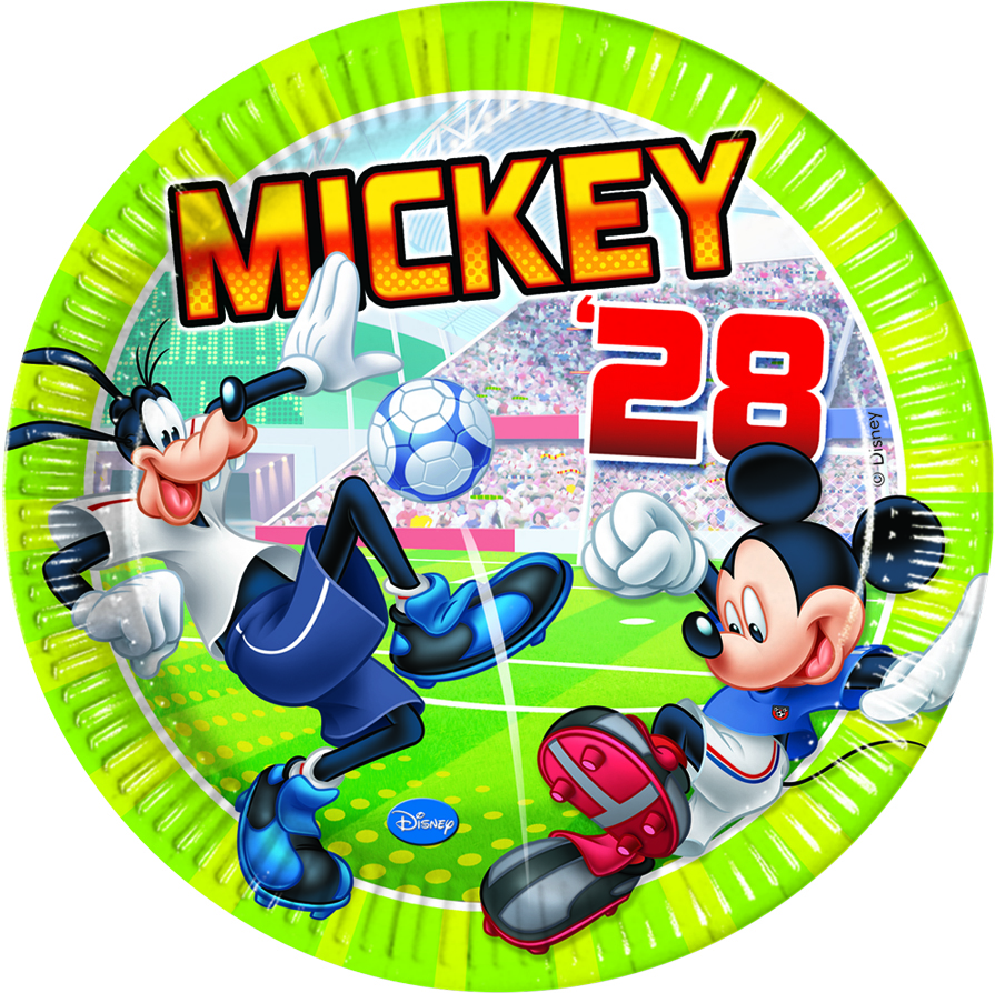 Disney Mickey Mouse Goal Fußball Party Teller