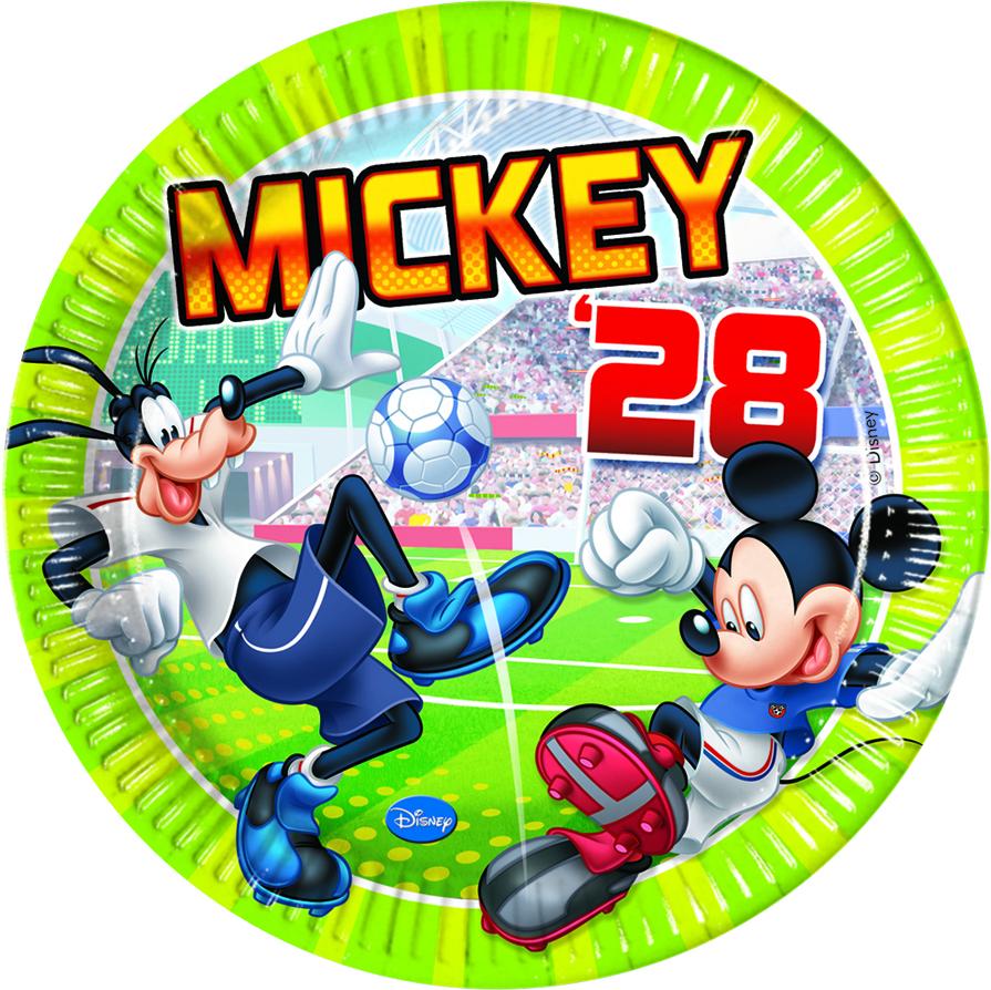 Disney Mickey Mouse Goal Fußball Party Teller