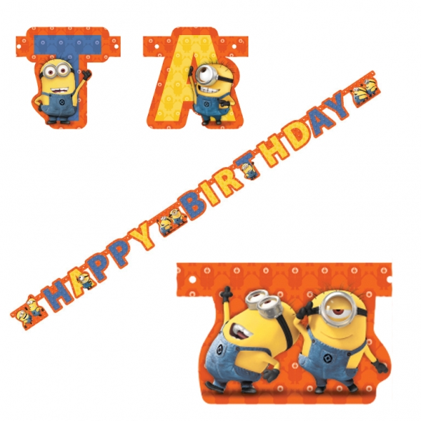 Me Minions Party Girlande Happy Birthday