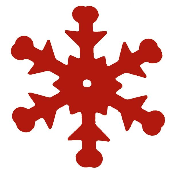 Tisch Konfetti Schneeflocken rot 20 gr.