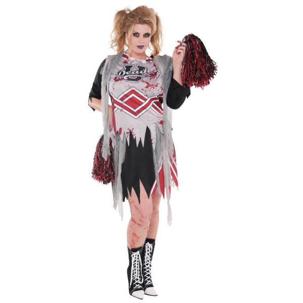 """Damen Kostüm """"Die Zombie Cheerleaderin"""" Gr.: 44 - 46 XXL Plus Size"""