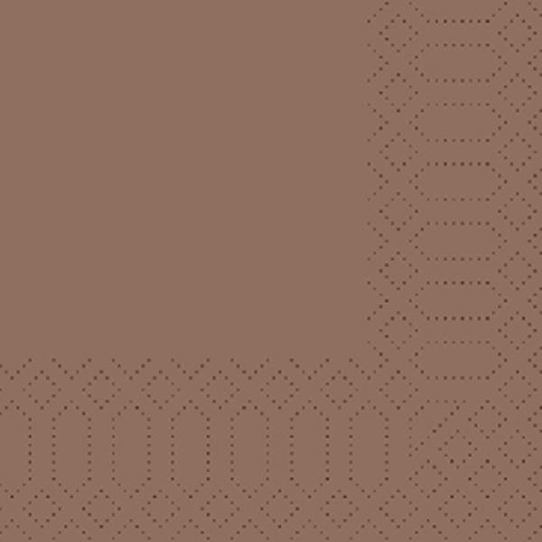 250 Duni Zelltuch Servietten chestnut 3 lagig 1/4 Falz 24x24 cm