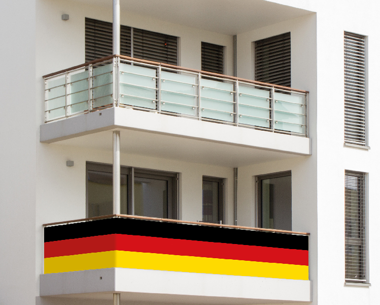 Balkonumrandung Deutschland Fan Artiklel zur EM