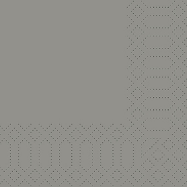 250 Duni Zelltuch Servietten granite grau 3 lagig 1/4 Falz 33 x 33 cm