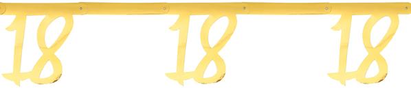 18. Geburtstag Party Wimpelkette Girlande gold  von Santex