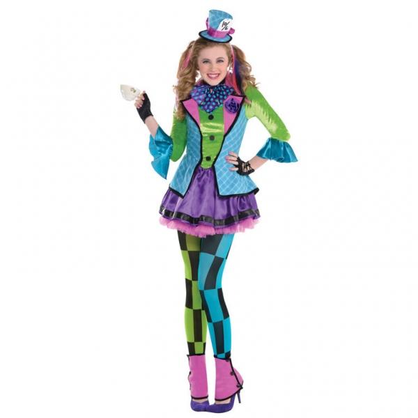 Mädchen Kostüm Der verrückte Hutmacher Sassy Gr.: 142-162 12-14 Jahre