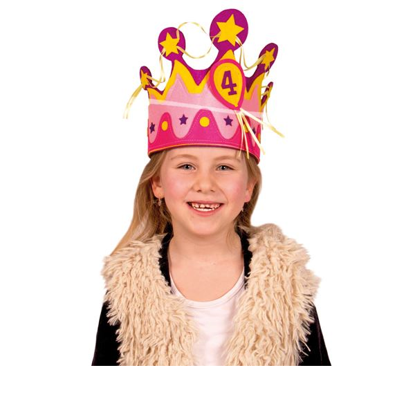 Geburtstags Krone für Mädchen mit Zahlen von 1 - 5