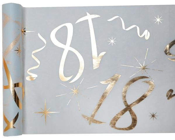 18. Geburtstag Party Tischband gold weiß