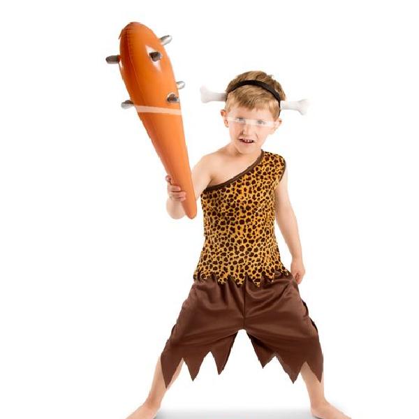 Kinder Kostüm Jungen in der Steinzeit Gr.: 98 - 116 / 3 - 5 Jahre