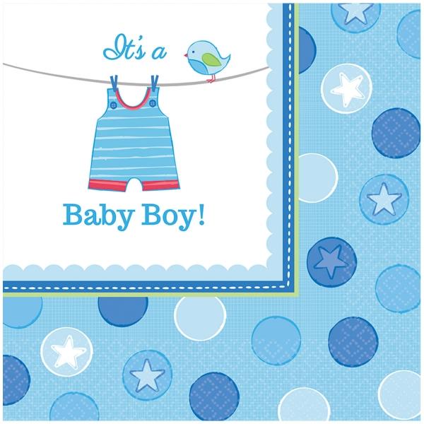 Baby Party Servietten ... es wird ein Junge