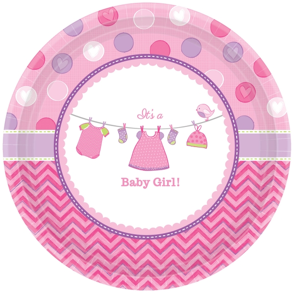 Baby Party Teller ... es wird ein Mädchen