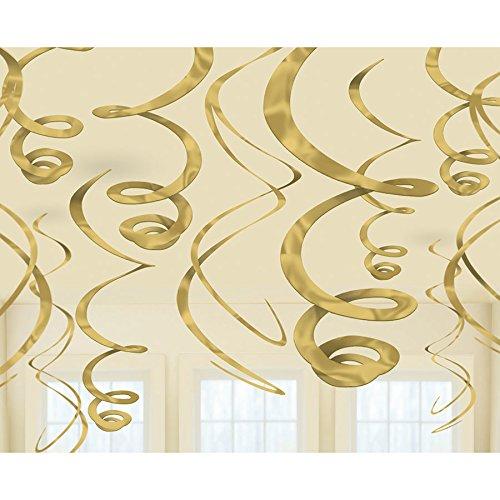 12 Swirl Rotor Spiralen Girlanden gold