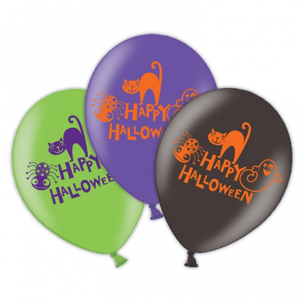 Party Luftballons HAPPY Halloween Helium geeignet