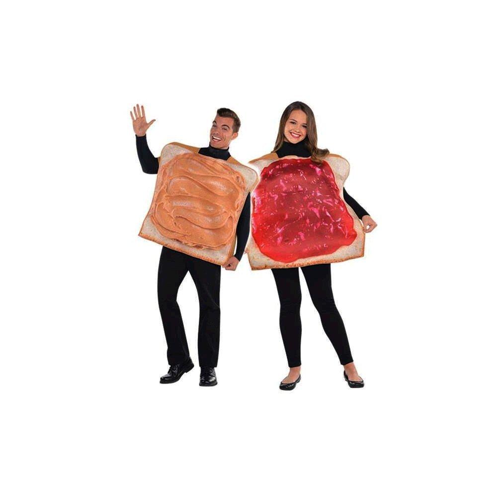 """Paar Kostüm """"Erdnussbutter und Marmeladen Toast / Sandwich"""""""