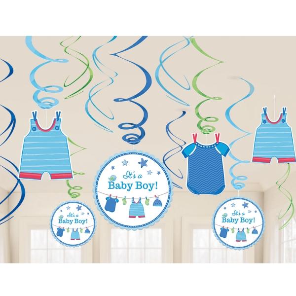 Baby Party Swirl Girlanden ... es wird ein Junge