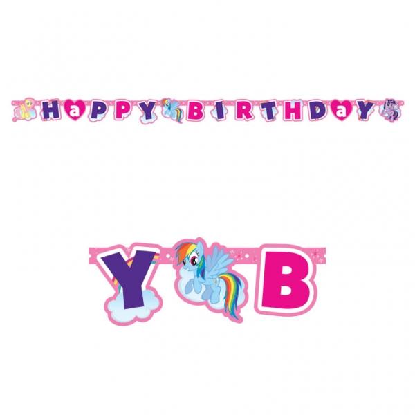 My Little Pony Rainbow Party Girlande Happy Birthday