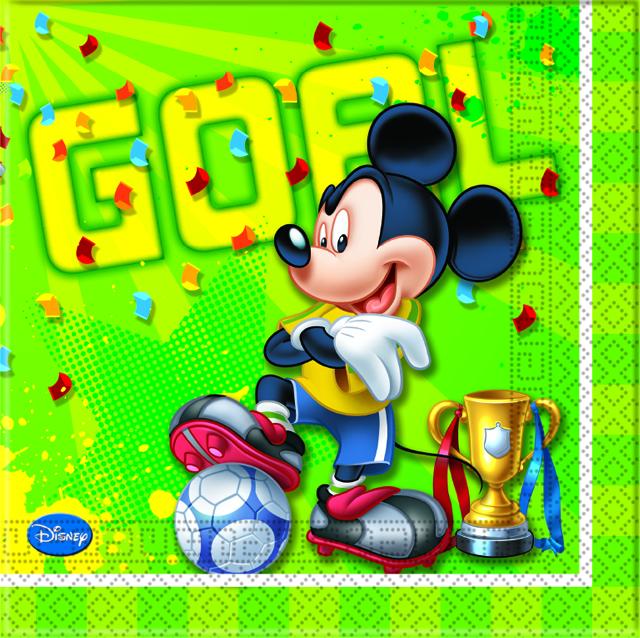 Disney Mickey Mouse Goal Fußball Party  Servietten