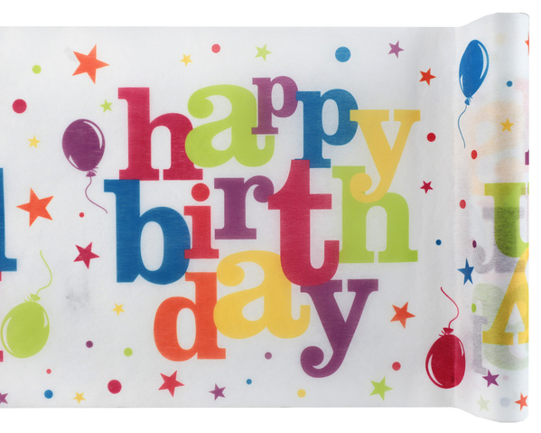 Happy Birthday Geburtstag Tischband bunt