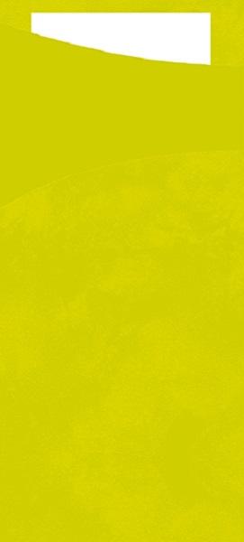 100 Sacchetto 19 x 8,5 cm Bestecktasche mit Serviette Duni Kiwi