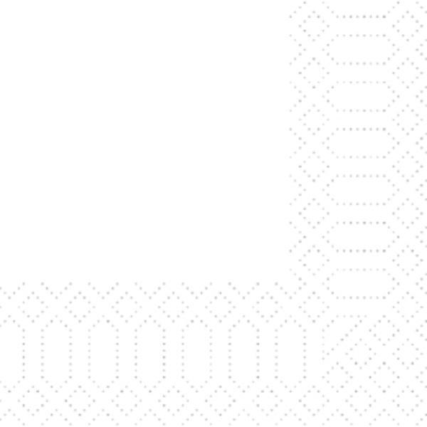 250 Duni Zelltuch Servietten weiß 3 lagig 1/4 Falz 24x24 cm