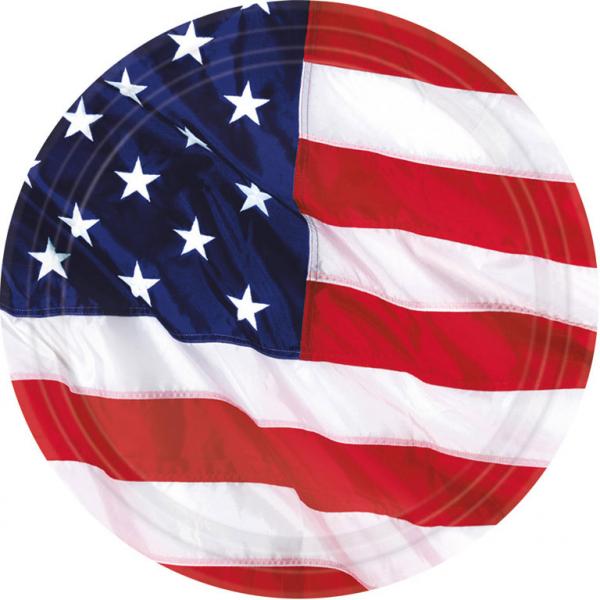 Party Teller Amerika 17,7 cm Amscan Die Flagge