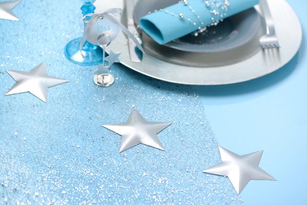 2 Sterne silber 9 x 9 cm