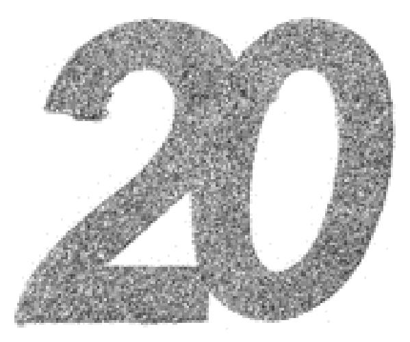 20. Geburtstag Party Konfetti in silber