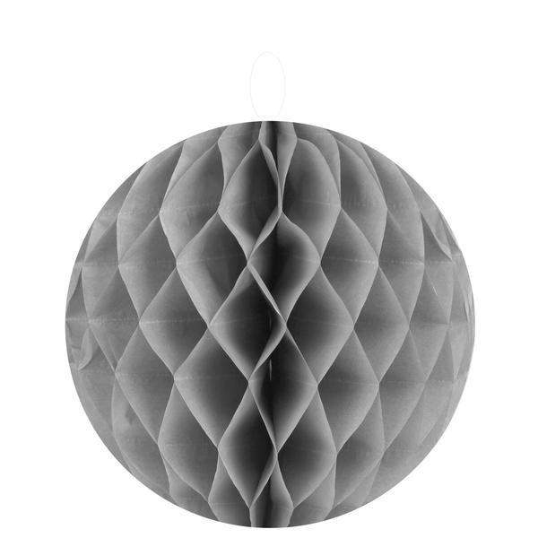 2 Wabenbälle grau 10 cm