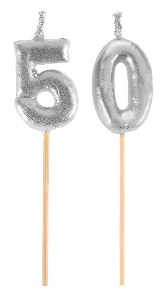 50. Geburtstag Zahlenkerze