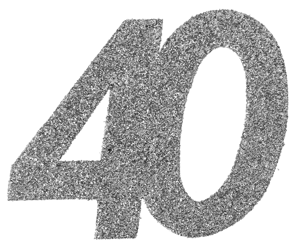 40. Geburtstag Konfetti silber