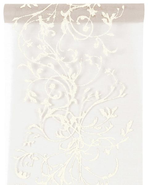 Tischband Tischläufer orientalisch weiß 28 cm x 5,00 m