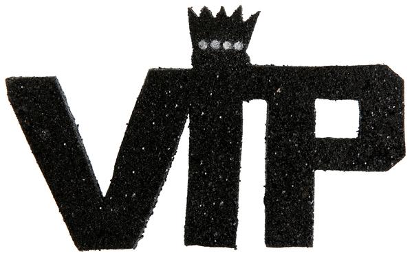 Buchstaben Dekoration Very Importent Persons VIP schwarz