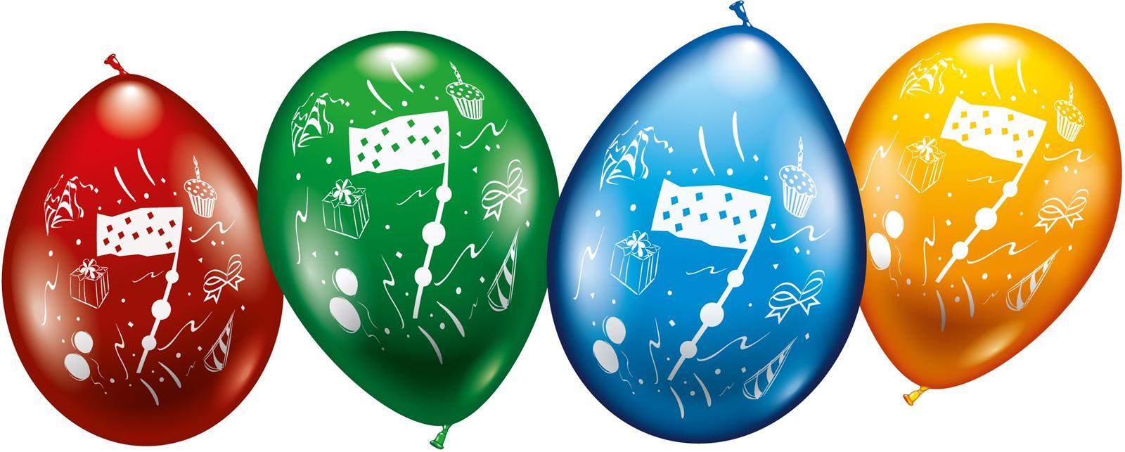 Zahlen Luftballons zum 7. Geburtstag Helium geeignet