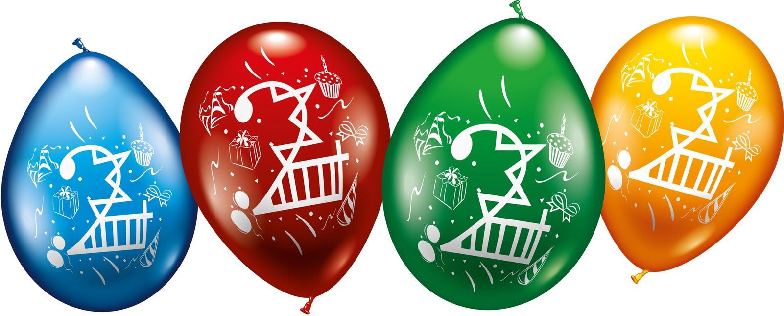 Zahlen Luftballons zum 2. Geburtstag Helium geeignet