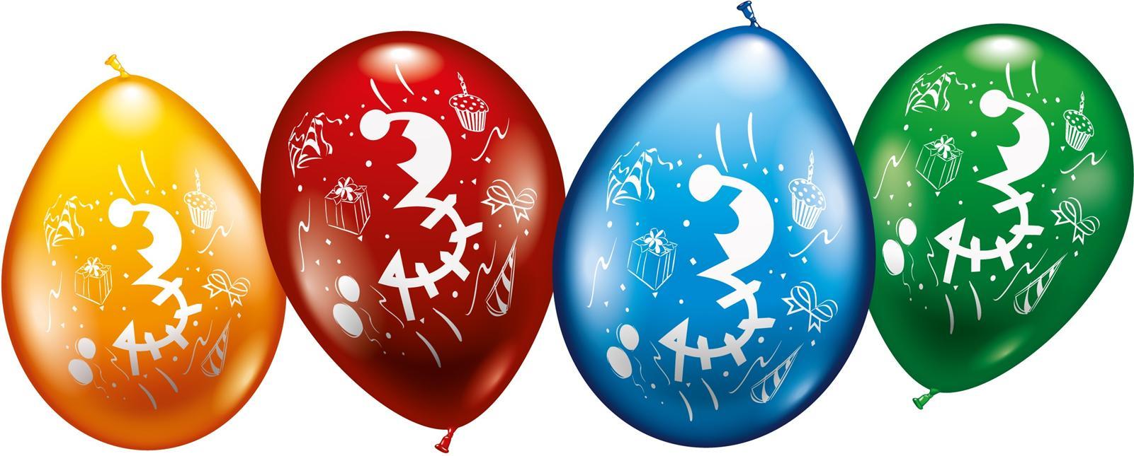 Zahlen Luftballons zum 3. Geburtstag Helium geeignet