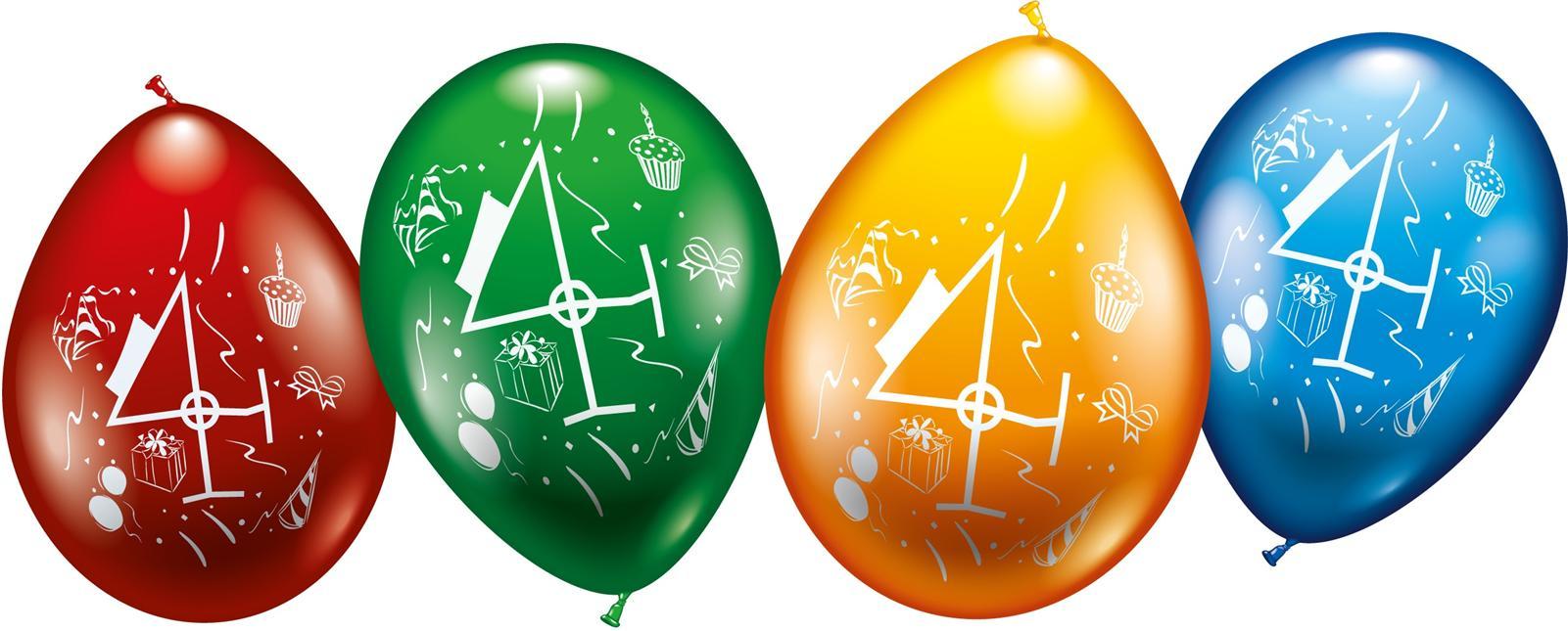 Zahlen Luftballons zum 4. Geburtstag Helium geeignet