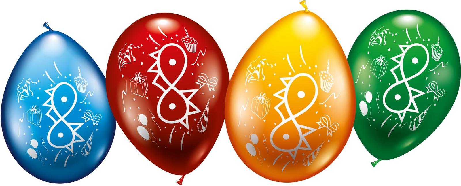 Zahlen Luftballons zum 8. Geburtstag Helium geeignet