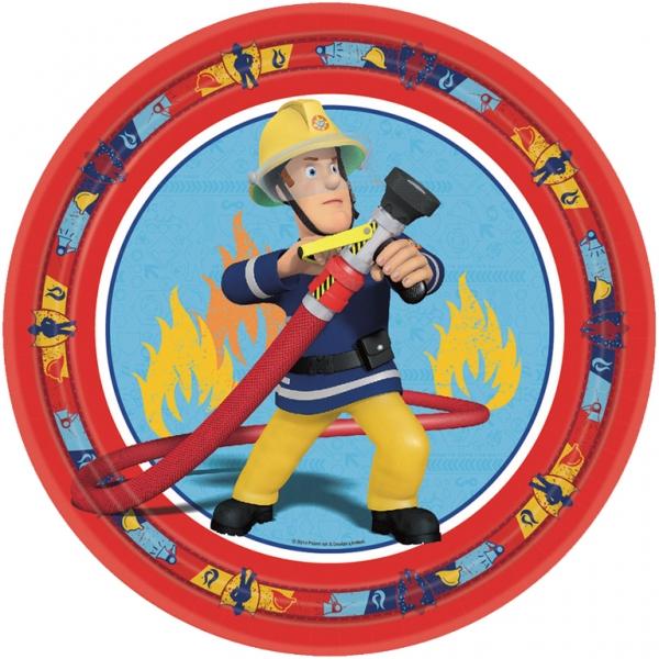 Feuerwehrmann Sam Party Teller