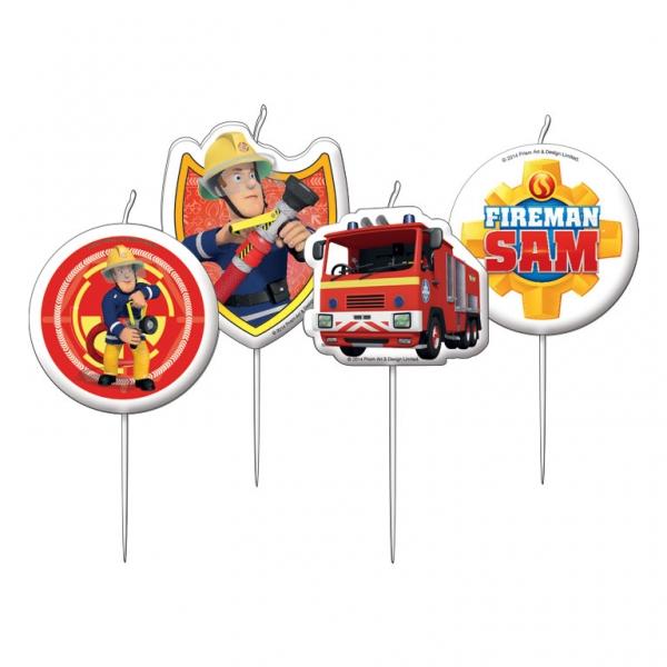 Feuerwehrmann Sam Party Mini Figurenkerzen