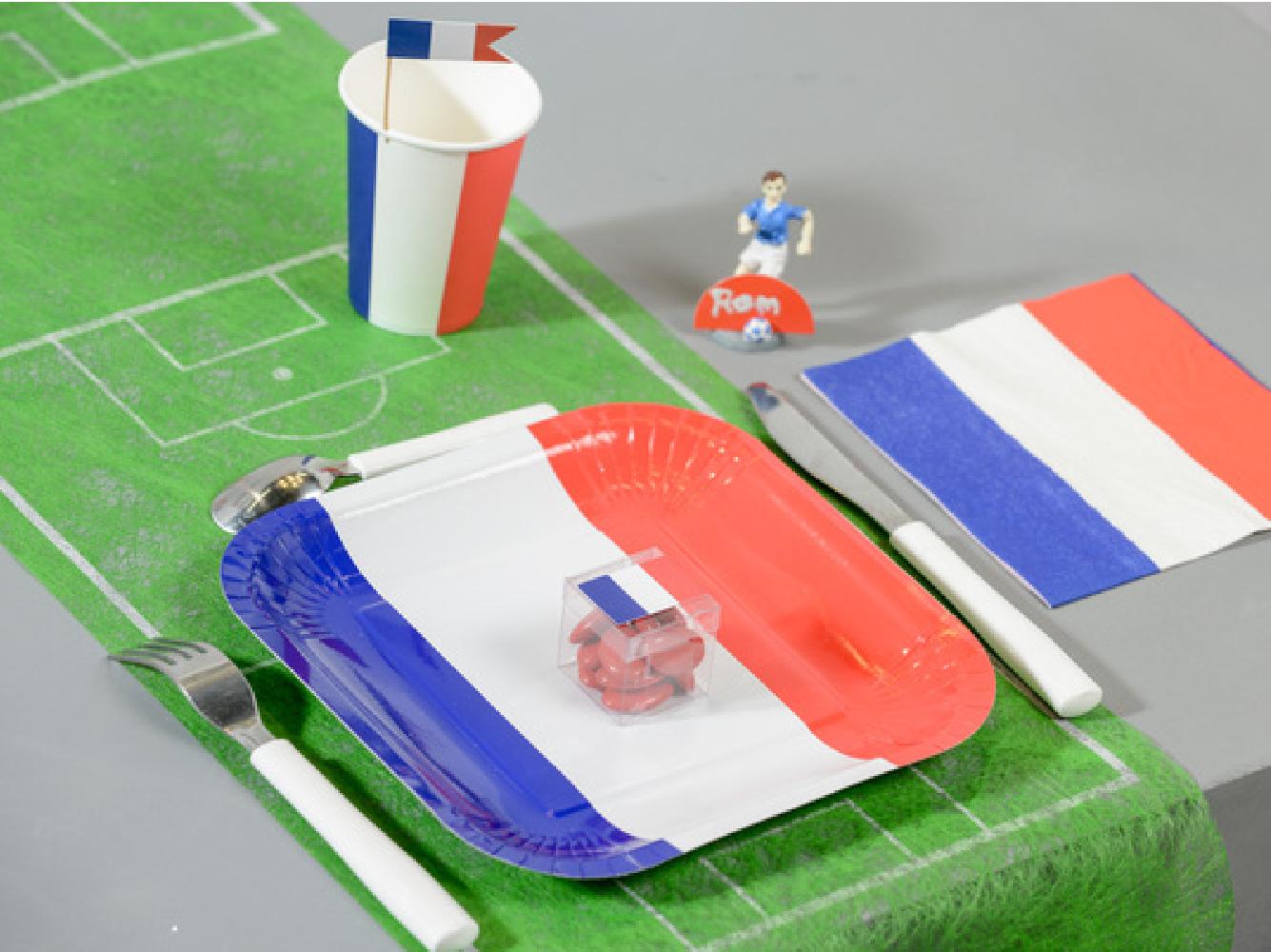 Tischband Tischläufer Fußballfeld Fußball Weltmeisterschaft Europa-
