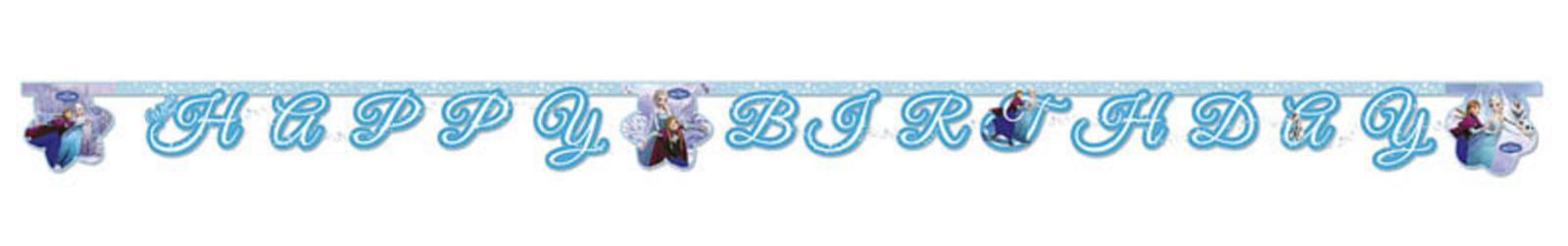 Frozen Ice Happy Birthday Girlande