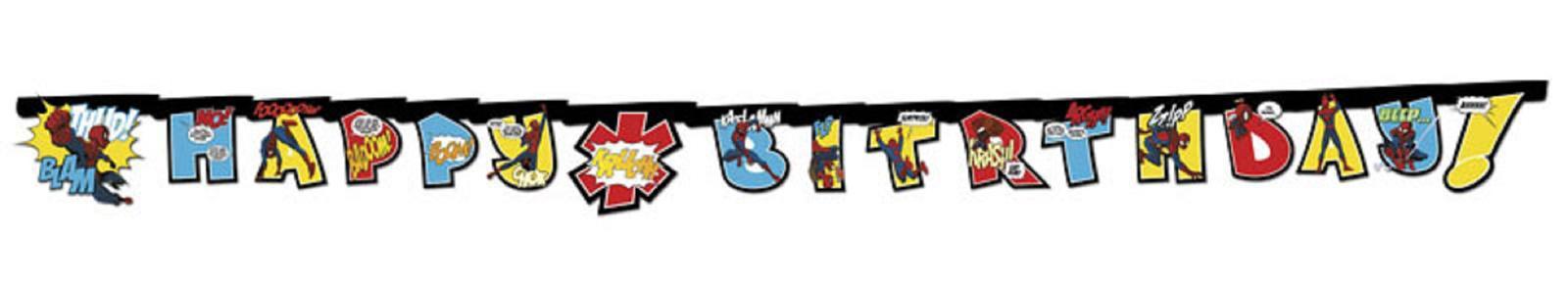 Spiderman Ulitimate Comic Party Girlande Happy Birthday