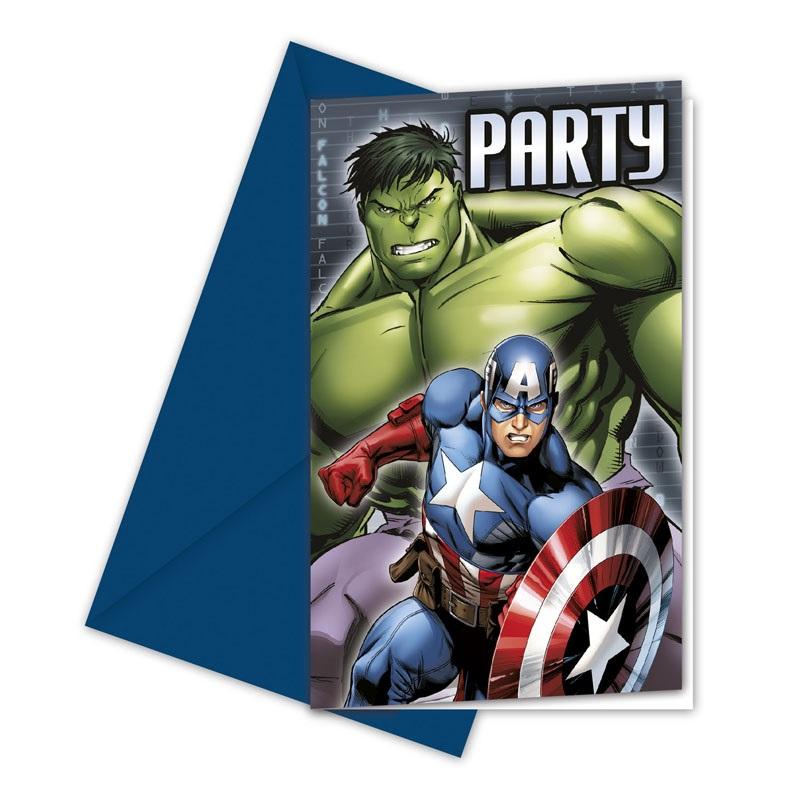 Marvel Avengers Assemble Einladungen mit allen Superhelden