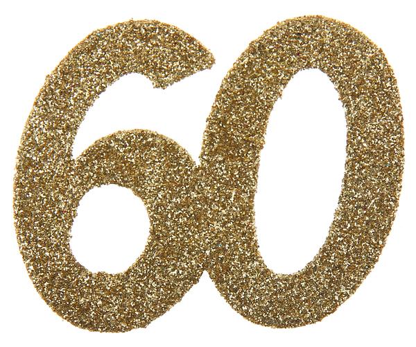 XL Geburtstag Konfetti 60 Jahre Santex gold